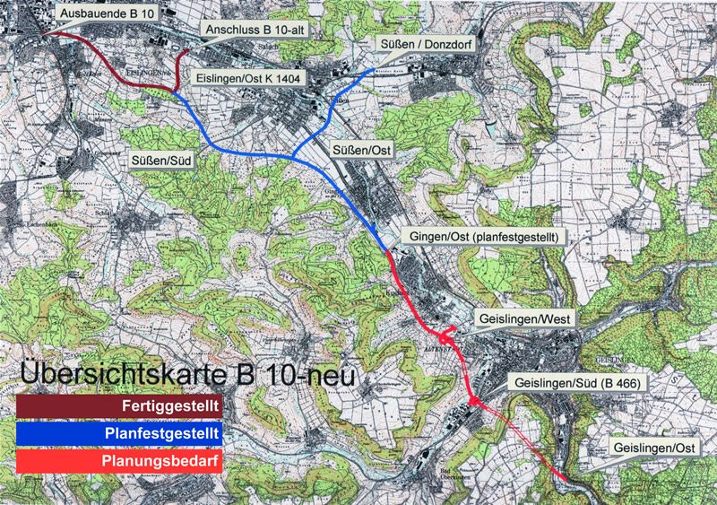 So ist die Umgehung Geislingen geplant - mit einem Tunnel ins Rohrachtel.