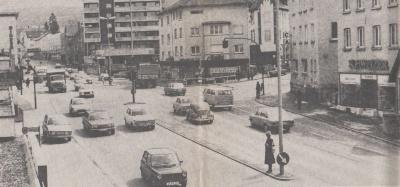 Historisches Bild vom Sternplatz in Geislingen-Altenstadt