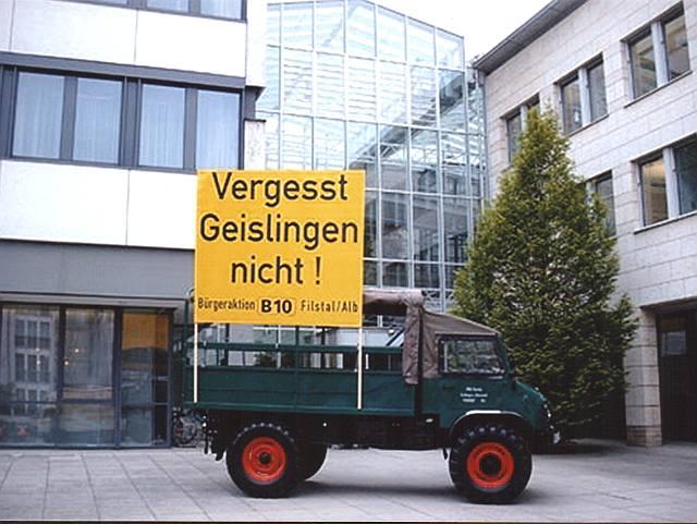 Demo vor dem Landratsamt Göppingen beim Besuch von Bundesverkehrsminister Bodewig